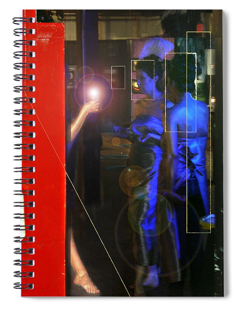 Female Figures Spiral Notebook featuring the photograph Blue Muses by Steve Karol