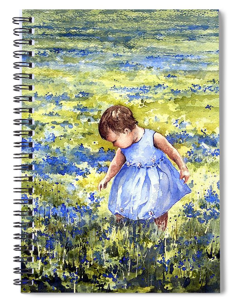 Blue Spiral Notebook featuring the painting Blue by Sam Sidders