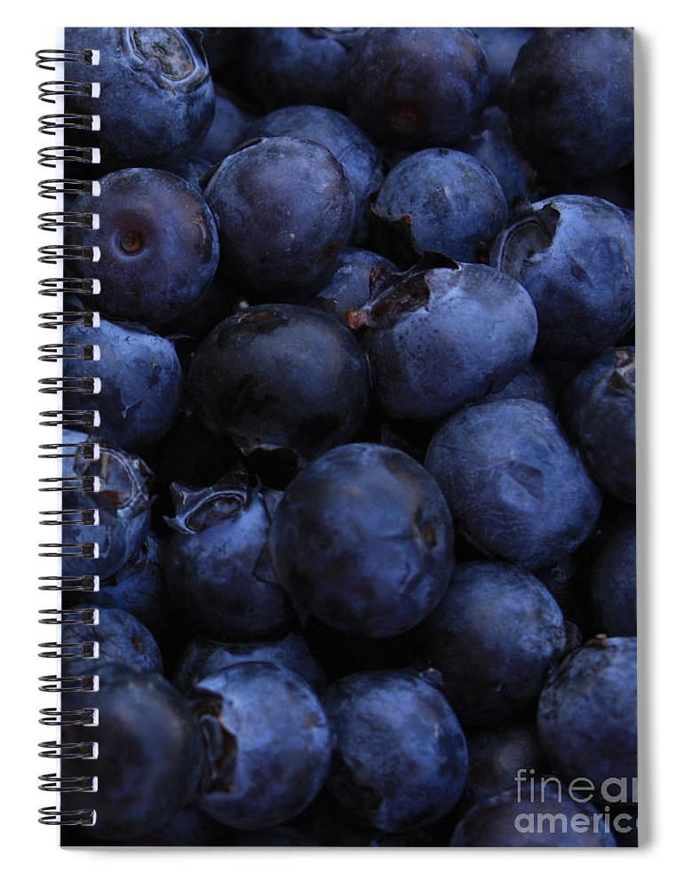 Blueberries Spiral Notebook featuring the photograph Blueberries Close-up - Vertical by Carol Groenen