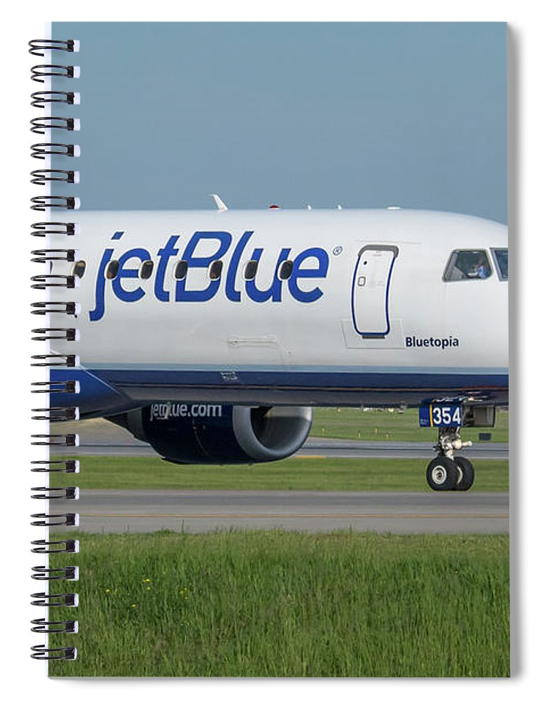 Aviation Spiral Notebook featuring the photograph Bluetopia by Guy Whiteley