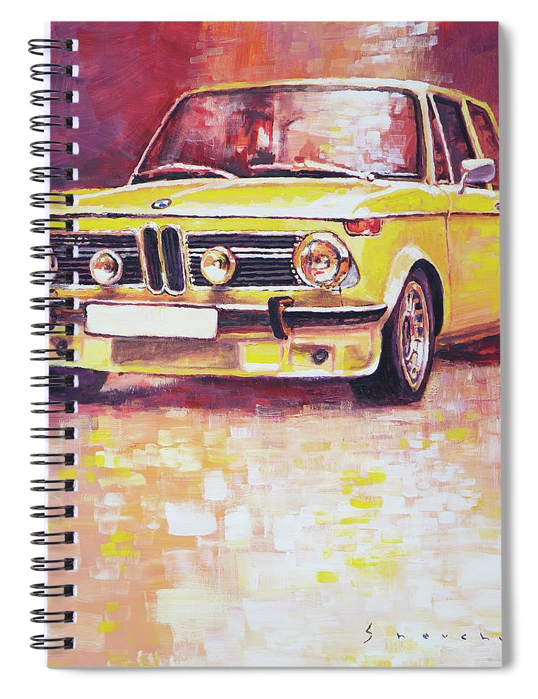 Acrilic Spiral Notebook featuring the painting Bmw 2002 Turbo by Yuriy Shevchuk
