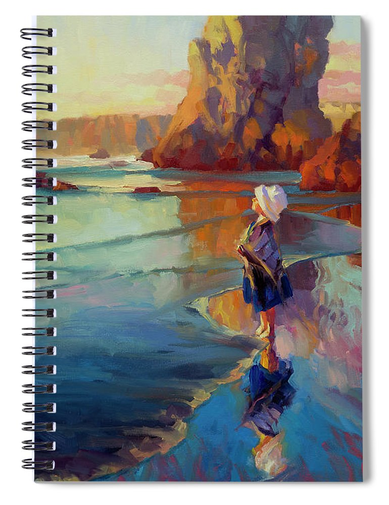 Child Spiral Notebook featuring the painting Bold Innocence by Steve Henderson