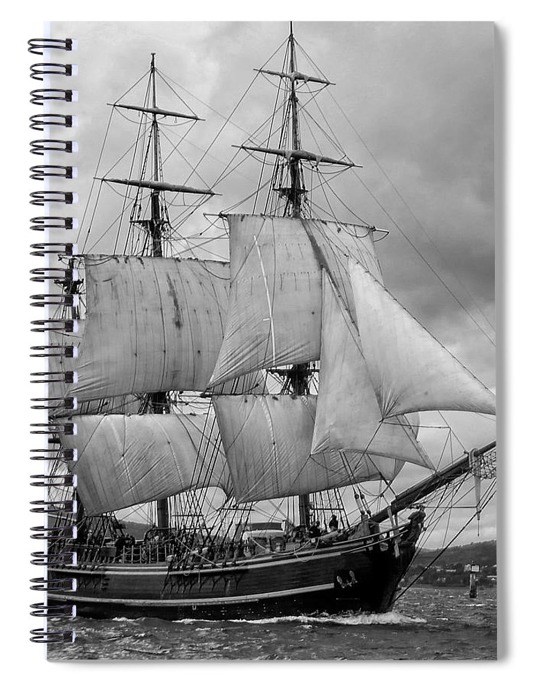 Tall Ship Spiral Notebook featuring the photograph Bounty by John Hughes