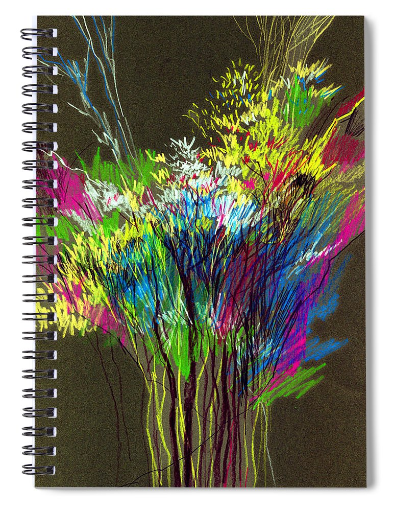 Flowers Spiral Notebook featuring the painting Bouquet by Anil Nene
