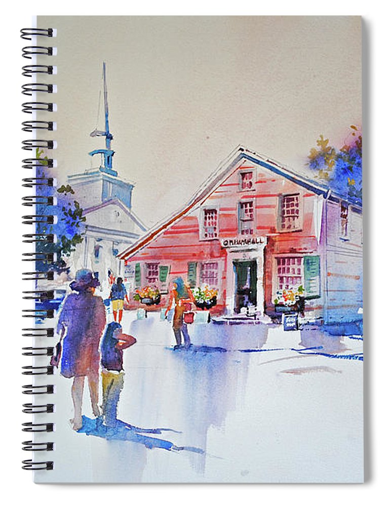 Visco Spiral Notebook featuring the painting Bramhall's Corner by P Anthony Visco