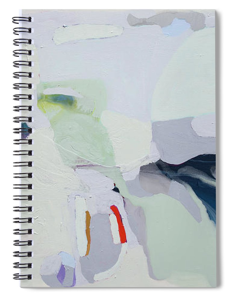 Abstract Spiral Notebook featuring the painting Breathe by Claire Desjardins