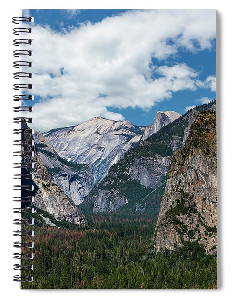 Yosemite Spiral Notebook featuring the photograph Bridal Veil Falls Rainbow by Daniel Kelly