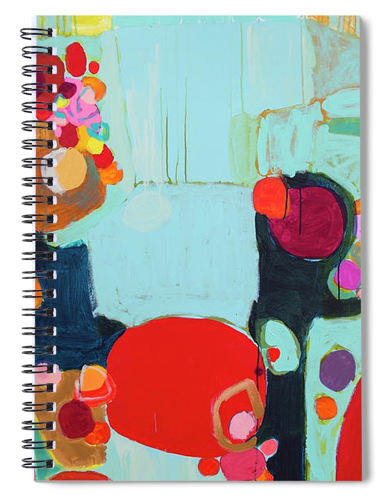 Abstract Spiral Notebook featuring the painting Bright As Quiet by Claire Desjardins