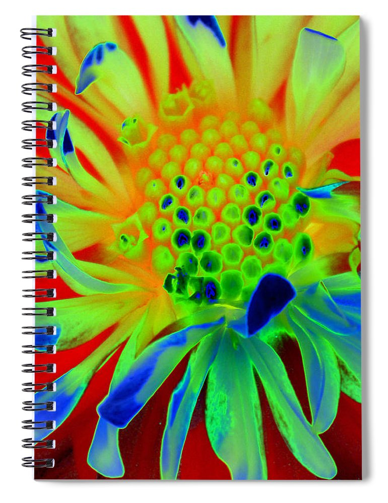 Diane Berry Spiral Notebook featuring the painting Bright Flower by Diane E Berry
