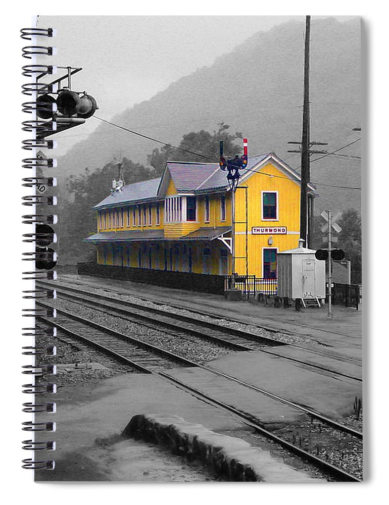 Pat Turner Spiral Notebook featuring the photograph Bright Spot In Thurmond by Pat Turner