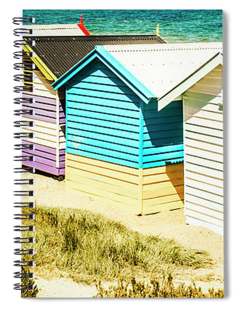 Australia Spiral Notebook featuring the photograph Brighton Beach, Melbourne by Jorgo Photography - Wall Art Gallery