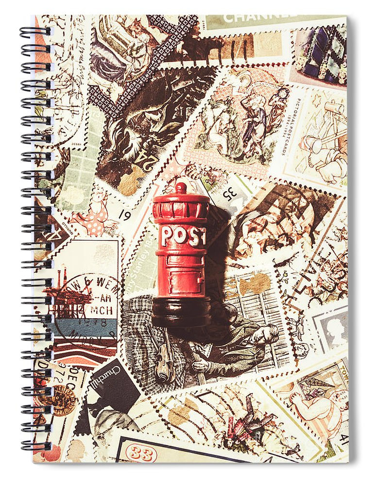 England Spiral Notebook featuring the photograph British Post Box by Jorgo Photography - Wall Art Gallery