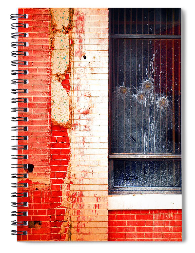 Glass Spiral Notebook featuring the photograph Broken Glass Like Flowers by Tara Turner