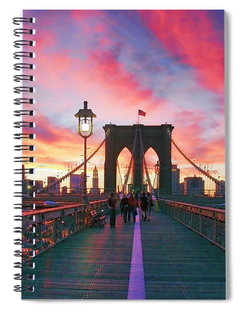 Brooklyn Spiral Notebook featuring the photograph Brooklyn Sunset by Rick Berk