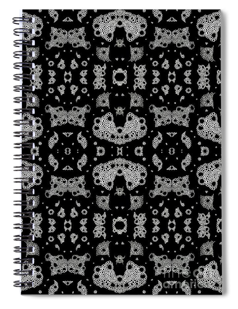 Abstract Spiral Notebook featuring the drawing Bubbles In Harmony by Helena Tiainen