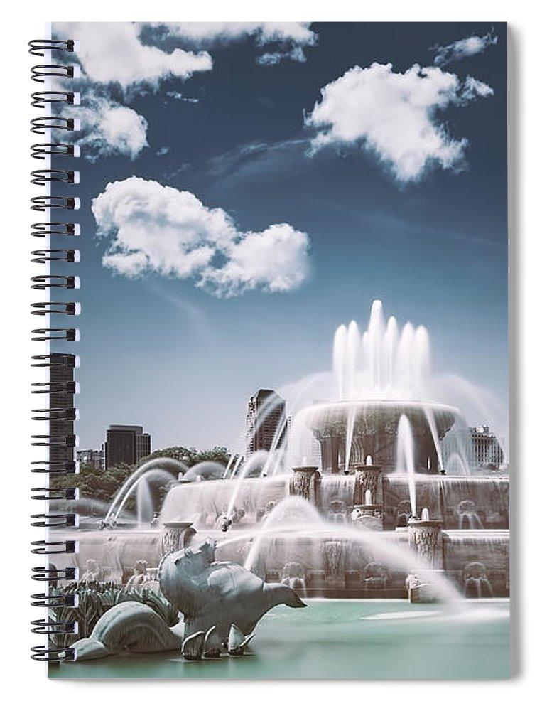 Buckingham Fountain Spiral Notebook featuring the photograph Buckingham Fountain by Scott Norris