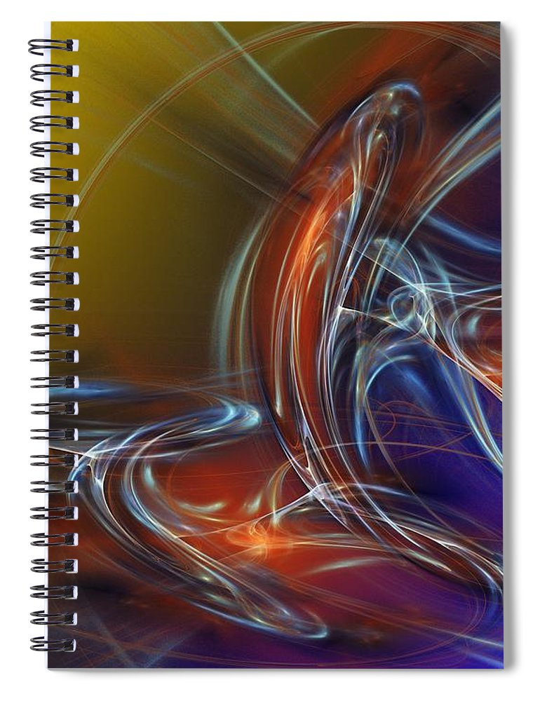 Fine Art Spiral Notebook featuring the digital art Buddhist Protest by David Lane