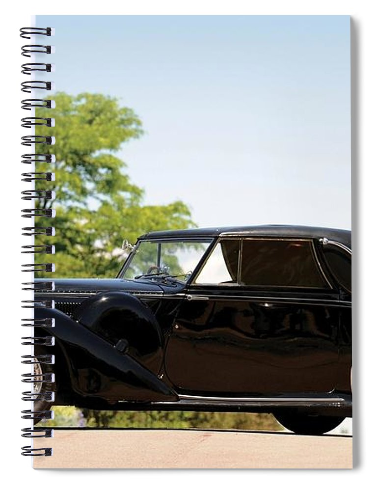 Bugatti Type 57 Spiral Notebook featuring the photograph Bugatti Type 57 by Jackie Russo