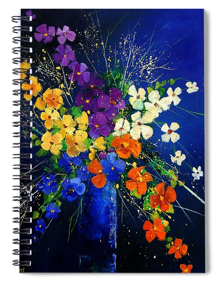 Poppies Spiral Notebook featuring the print Bunch 0408 by Pol Ledent