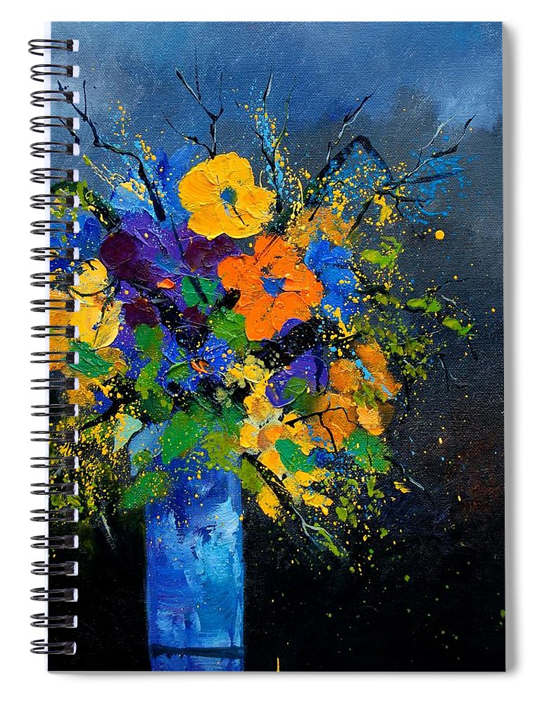 Poppies Spiral Notebook featuring the painting Bunch 1007 by Pol Ledent