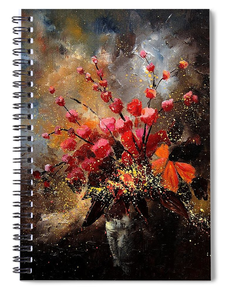 Poppies Spiral Notebook featuring the painting Bunch 1207 by Pol Ledent