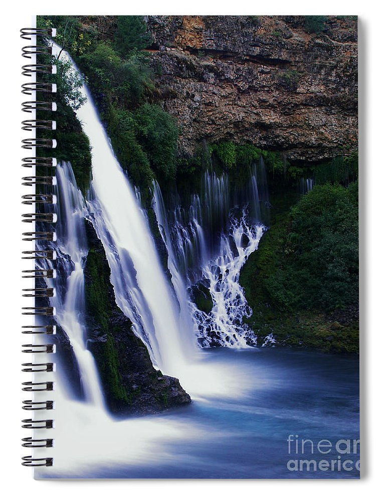 River Spiral Notebook featuring the photograph Burney Blues by Peter Piatt