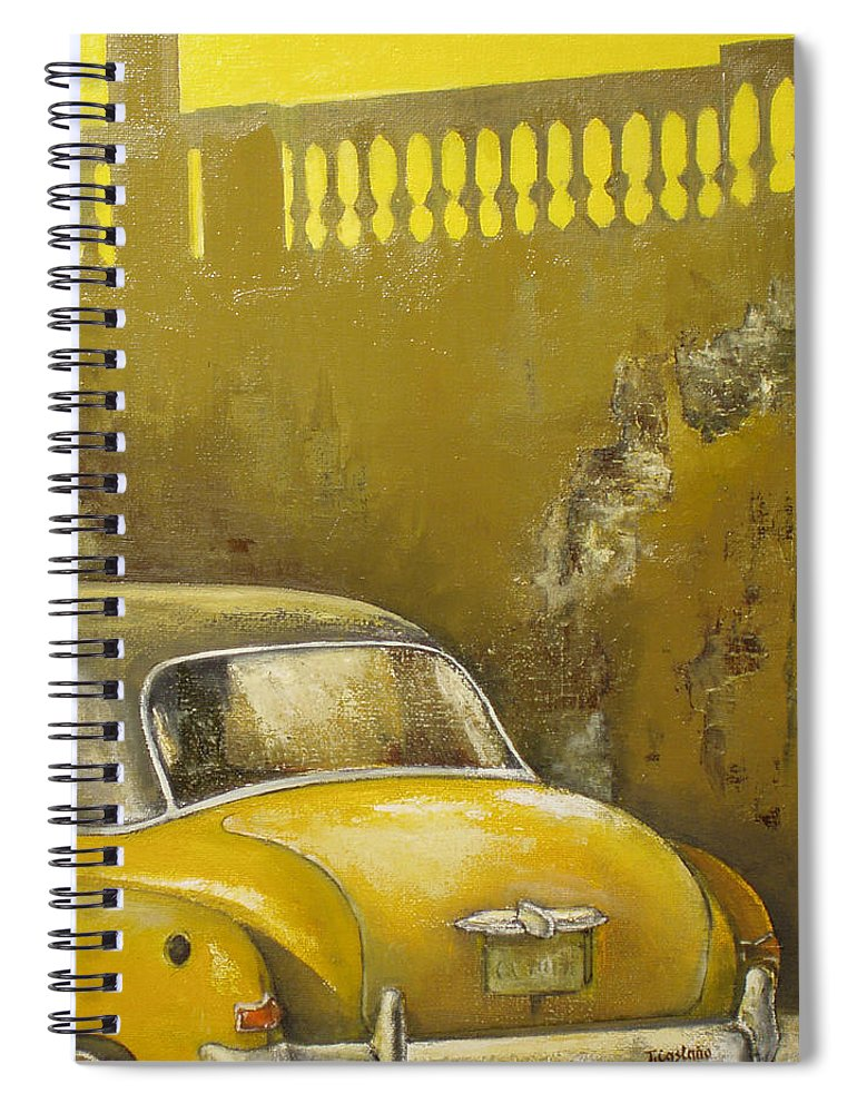 Havana Spiral Notebook featuring the painting Buscando La Sombra by Tomas Castano