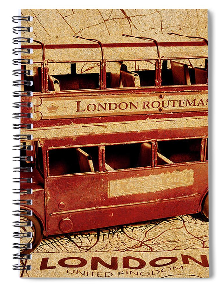 Vintage Spiral Notebook featuring the photograph Buses Of Vintage England by Jorgo Photography - Wall Art Gallery