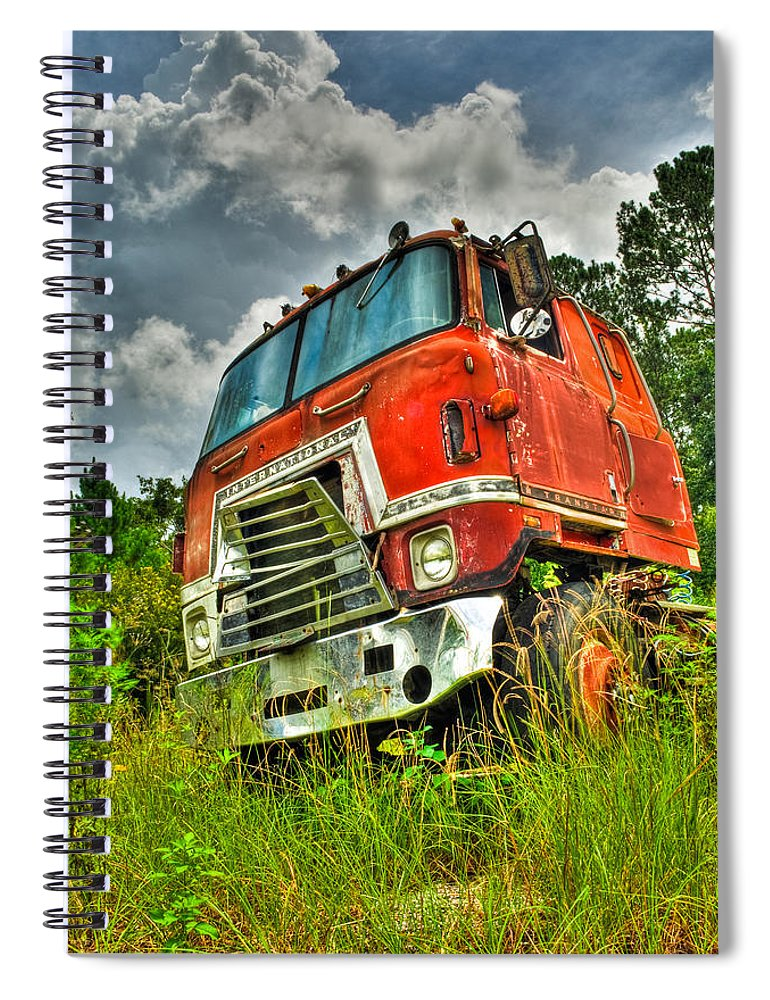 Truck Spiral Notebook featuring the photograph Busted And Rusted by Rich Leighton