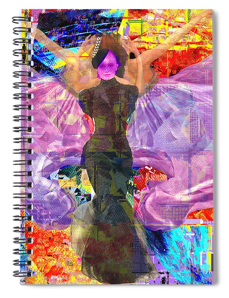 Butterfly Spiral Notebook featuring the digital art Butterfly Fantasy by Seth Weaver
