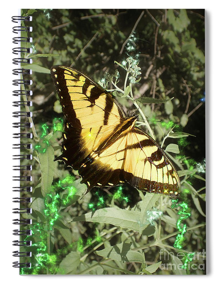 Eastern Tiger Swallowtail Spiral Notebook featuring the photograph Butterfly Magic by Nicole Angell