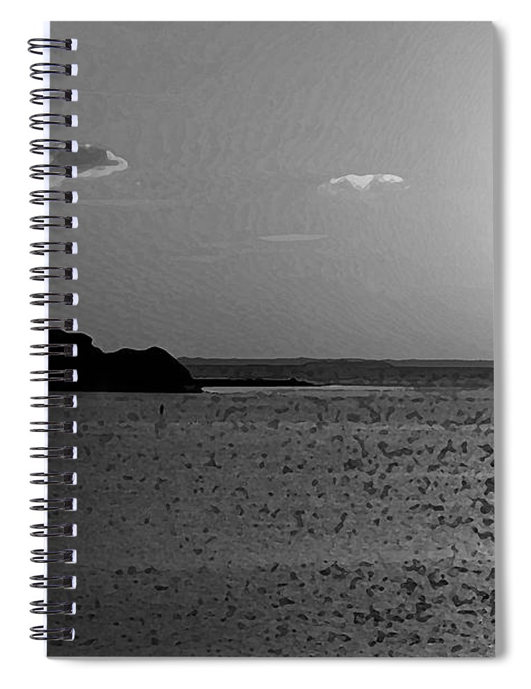 Pelican Spiral Notebook featuring the photograph Bw Sunset House by Michael Thomas
