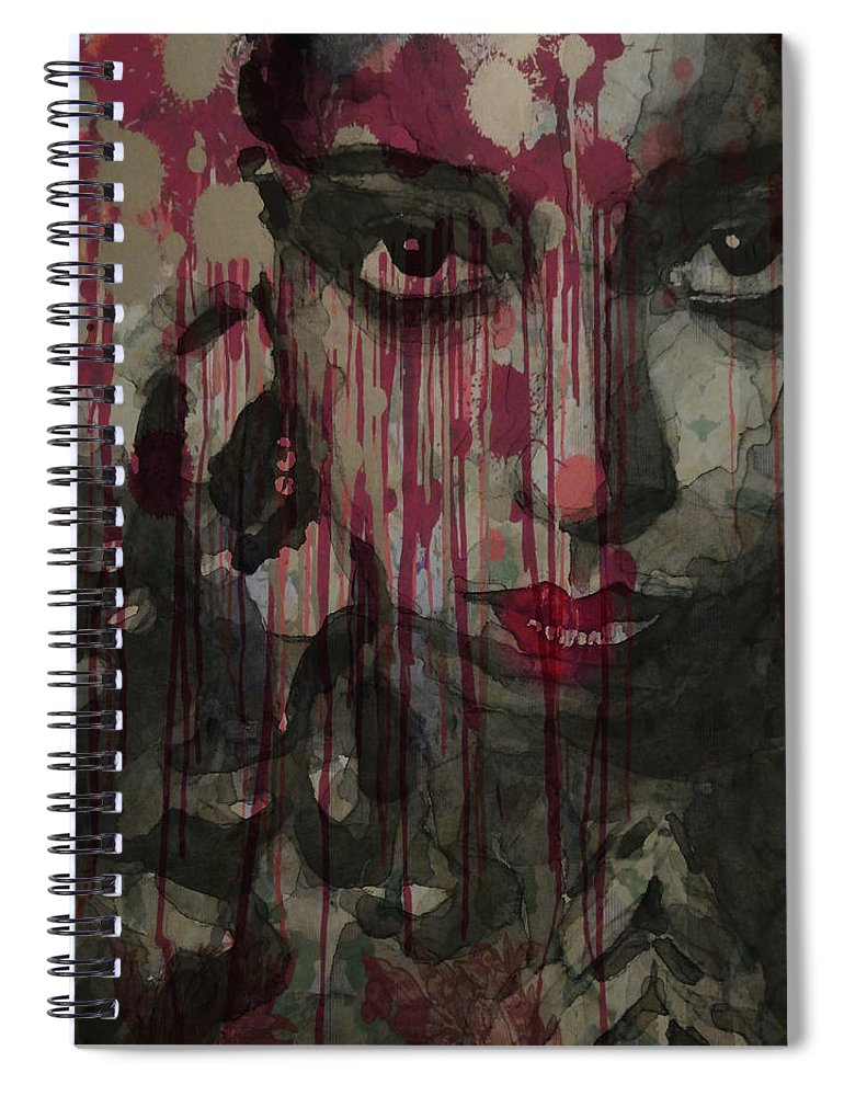 Josephine Baker Spiral Notebook featuring the painting Bye Bye Blackbird by Paul Lovering