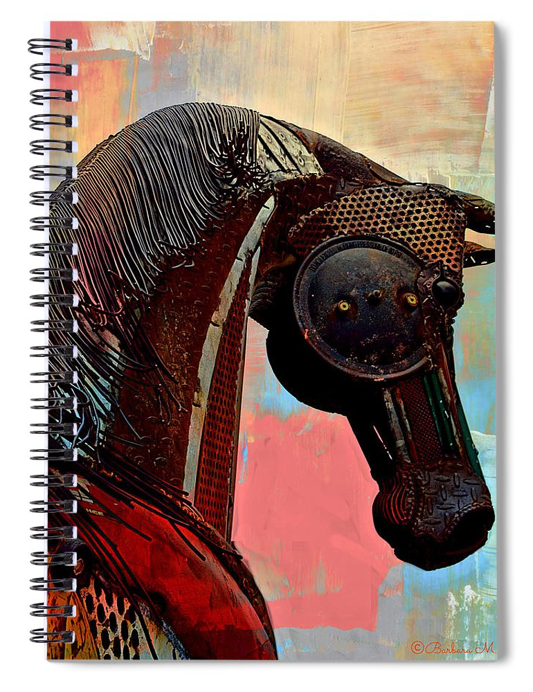 Still Life Spiral Notebook featuring the photograph Caballo by Barbara Zahno