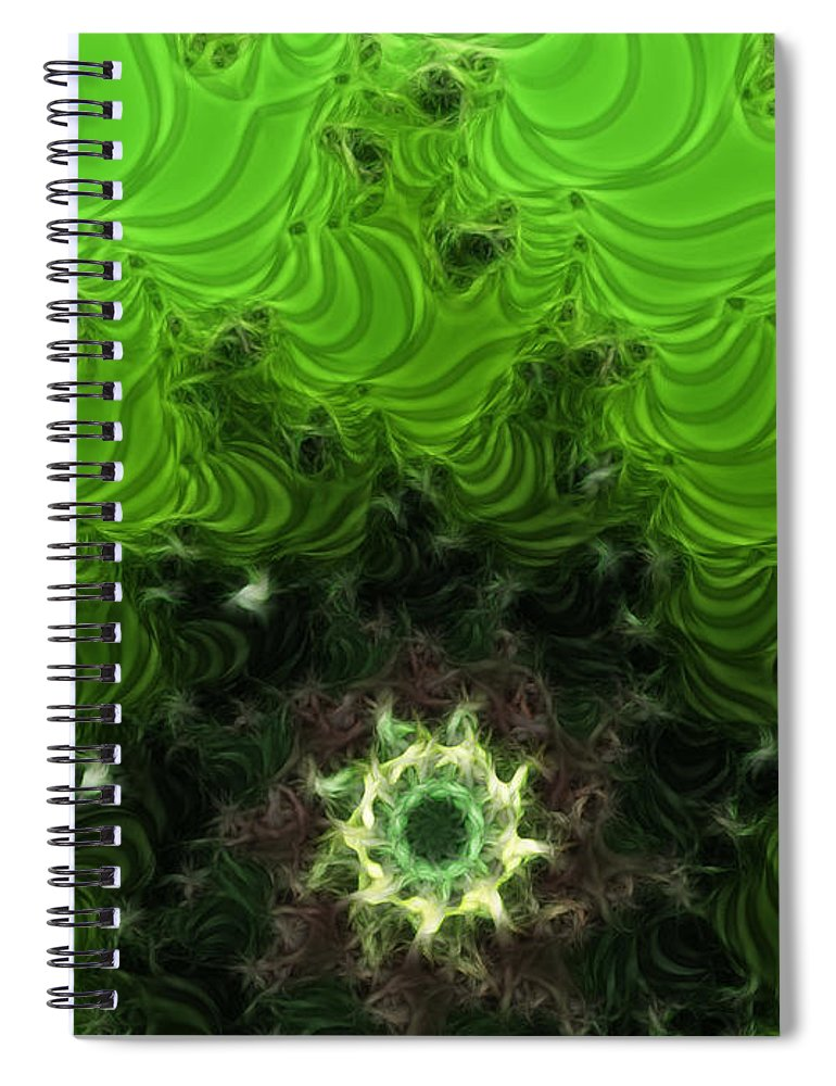 Cactus Abstract Spiral Notebook featuring the digital art Cactus Abstract by Methune Hively