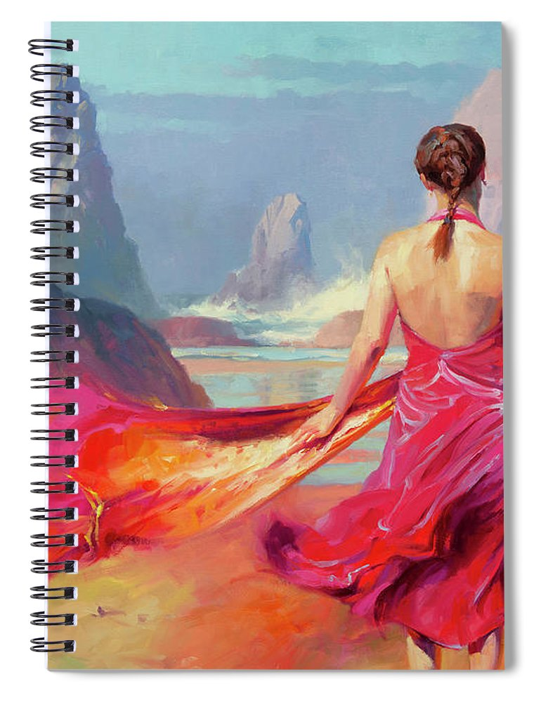 Coast Spiral Notebook featuring the painting Cadence by Steve Henderson