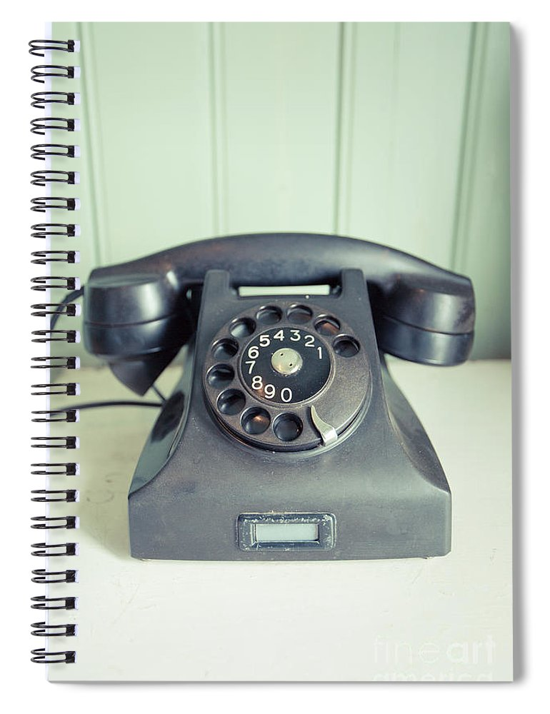 Call Me Old Telephone Spiral Notebook