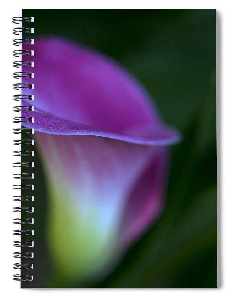 Calla Lily Spiral Notebook featuring the photograph Calla Lily by Jessica Wakefield