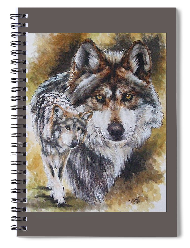 Wildlife Spiral Notebook featuring the mixed media Callidity by Barbara Keith
