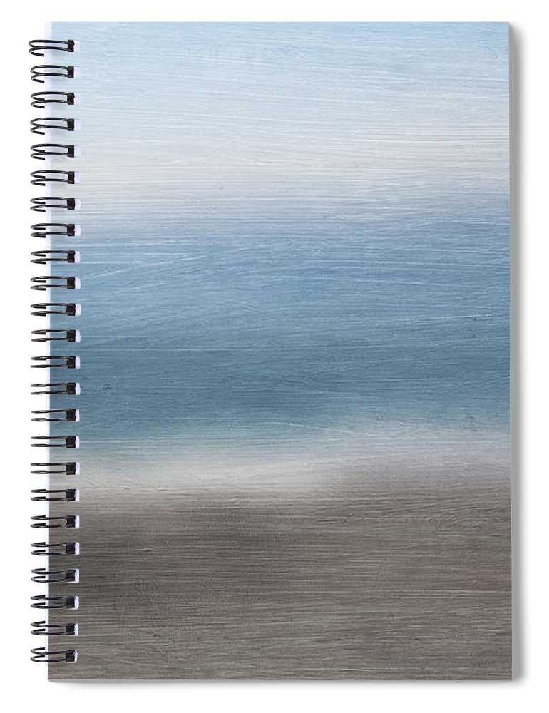 Beach Spiral Notebook featuring the mixed media Calm Coast 2- Art By Linda Woods by Linda Woods