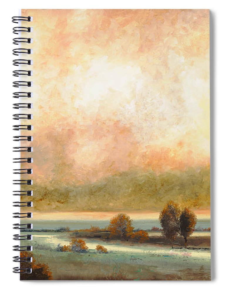 Pond Spiral Notebook featuring the painting Calor Bianco by Guido Borelli