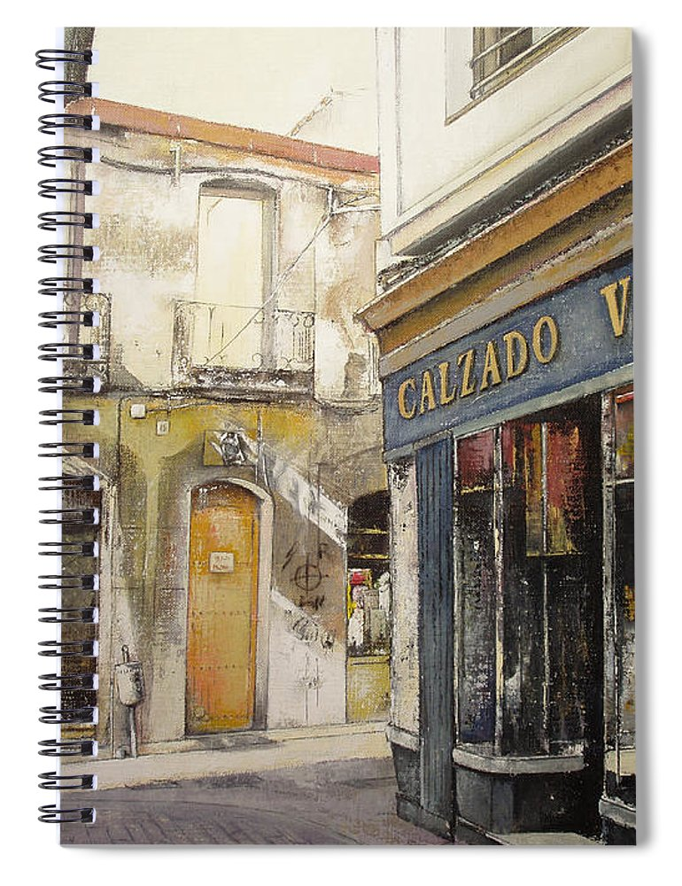 Calzados Spiral Notebook featuring the painting Calzados Victoria-leon by Tomas Castano