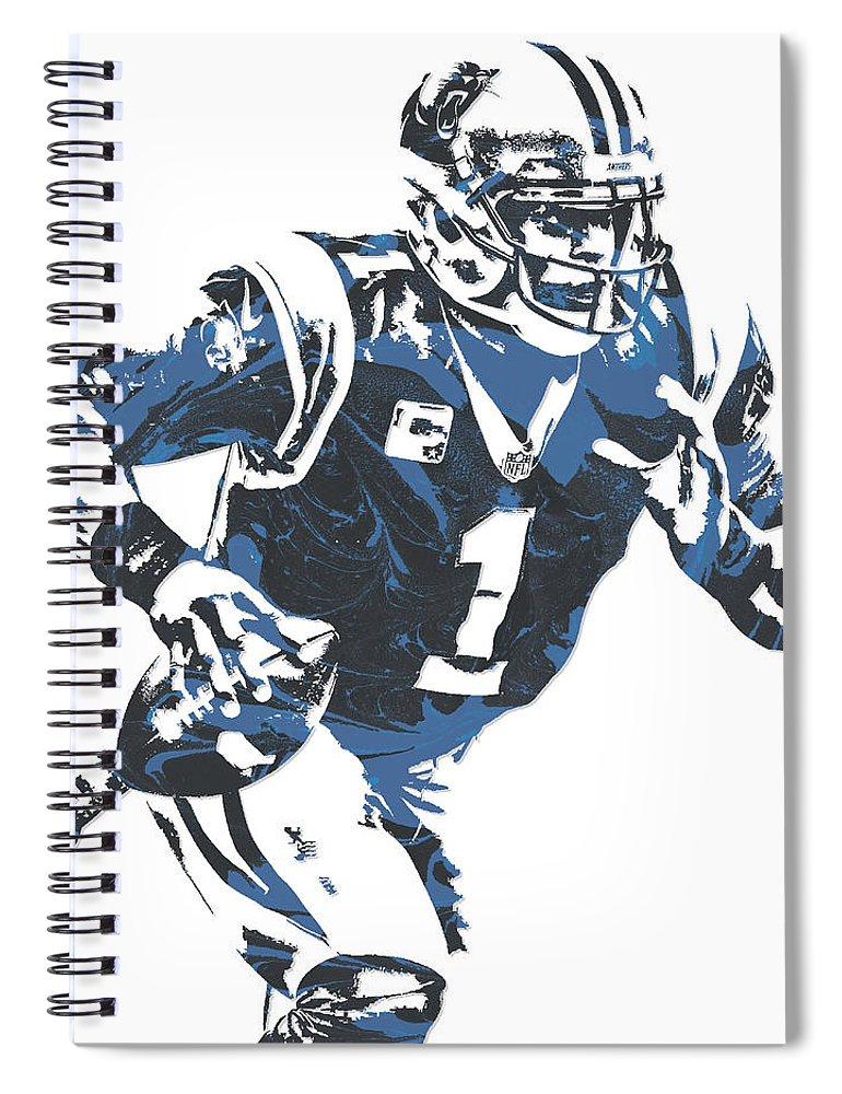 b1fdbdca Cam Newton Carolina Panthers Pixel Art 12 Spiral Notebook