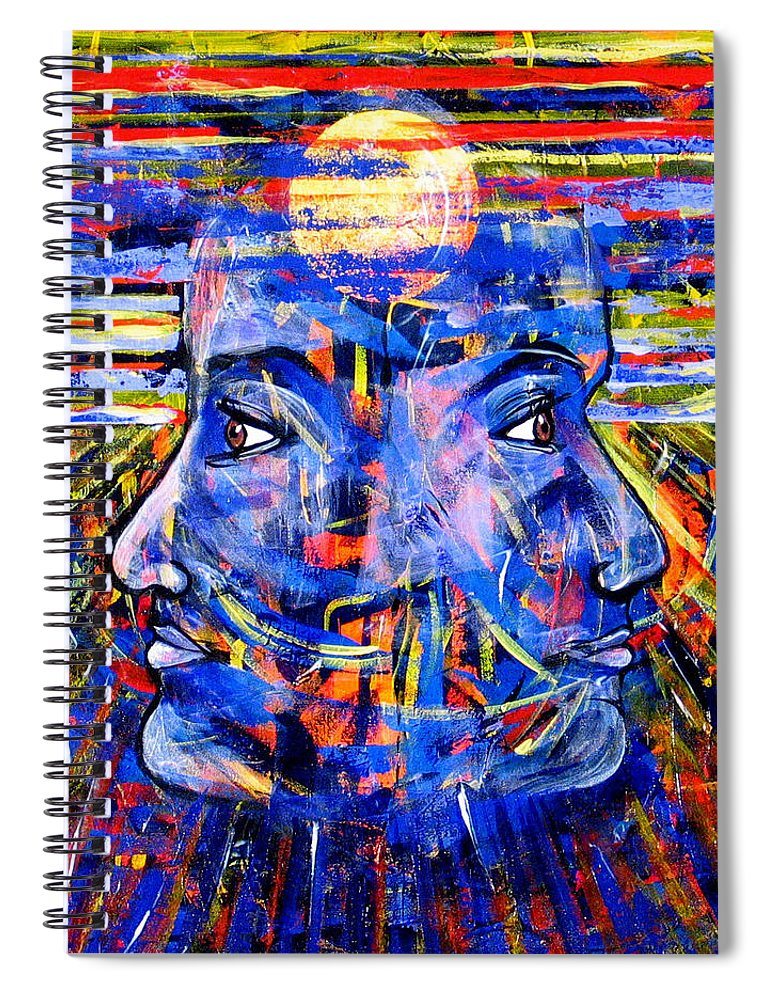 Confrontation Spiral Notebook featuring the painting Can Not Live A Lie by Rollin Kocsis