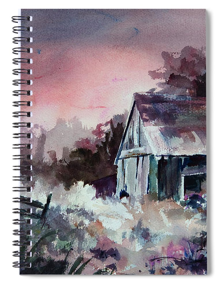 Shack Spiral Notebook featuring the painting Candy Cane by William Russell Nowicki