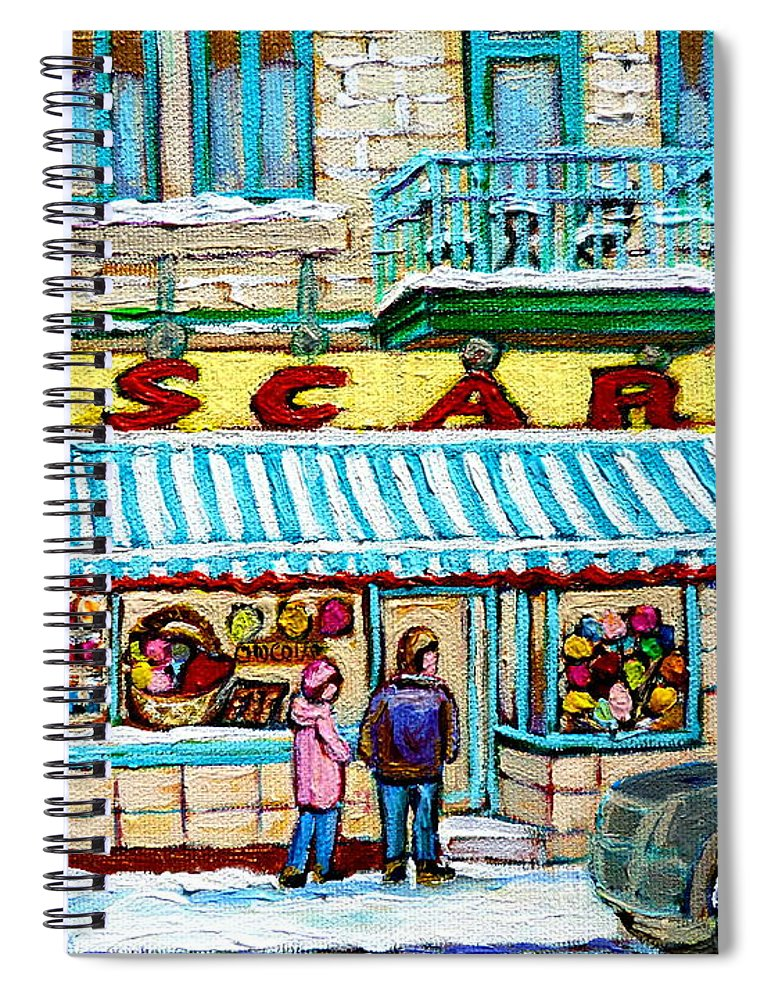 Candy Shop Spiral Notebook featuring the painting Candy Shop by Carole Spandau