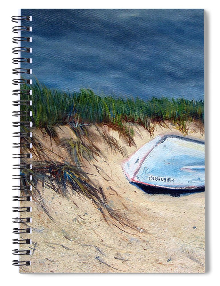 Boat Spiral Notebook featuring the painting Cape Cod Boat by Paul Walsh