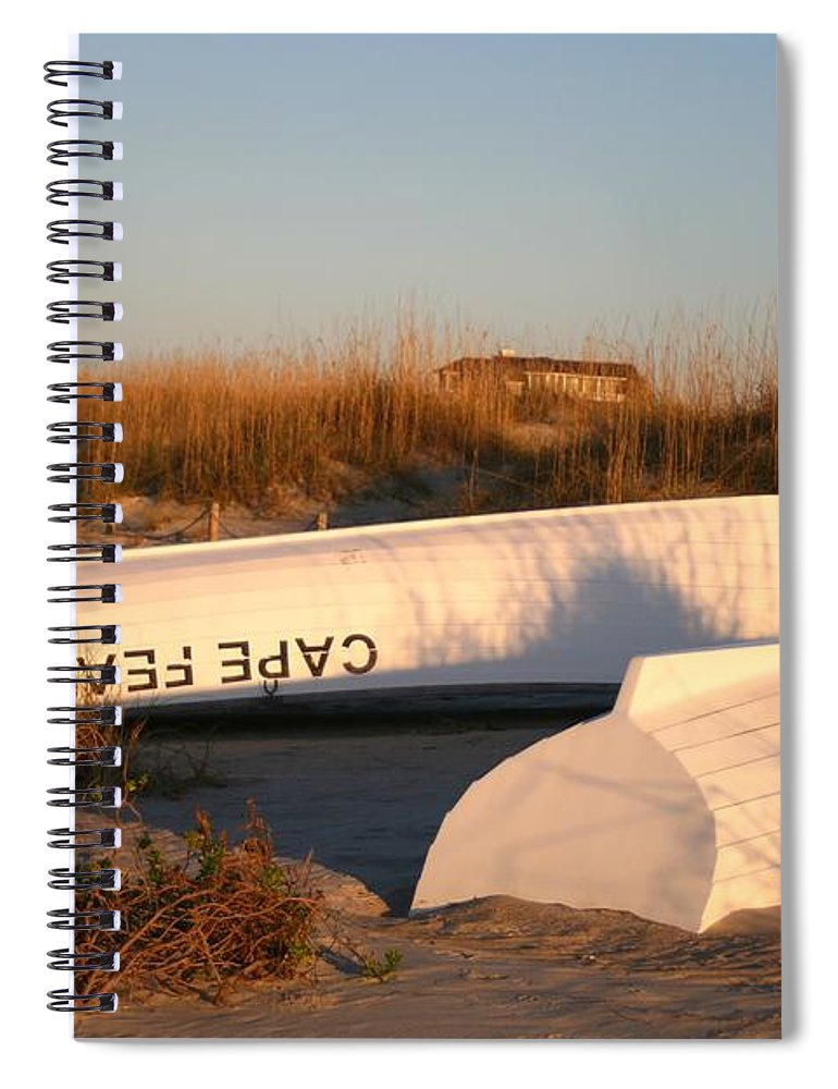 Boats Spiral Notebook featuring the photograph Cape Fear Boats by Nadine Rippelmeyer