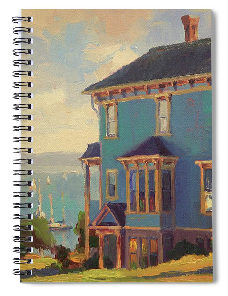 Coast Spiral Notebook featuring the painting Captain's House by Steve Henderson