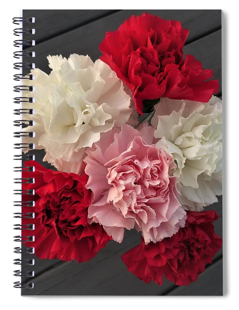 Carnation Spiral Notebook featuring the photograph Carnations by Scenic Sights By Tara